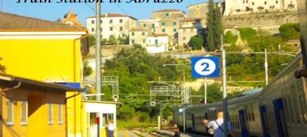 Taking the train in the Abruzzo region, Italy.