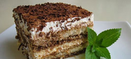 Recipe for Italian dessert Tiramisù