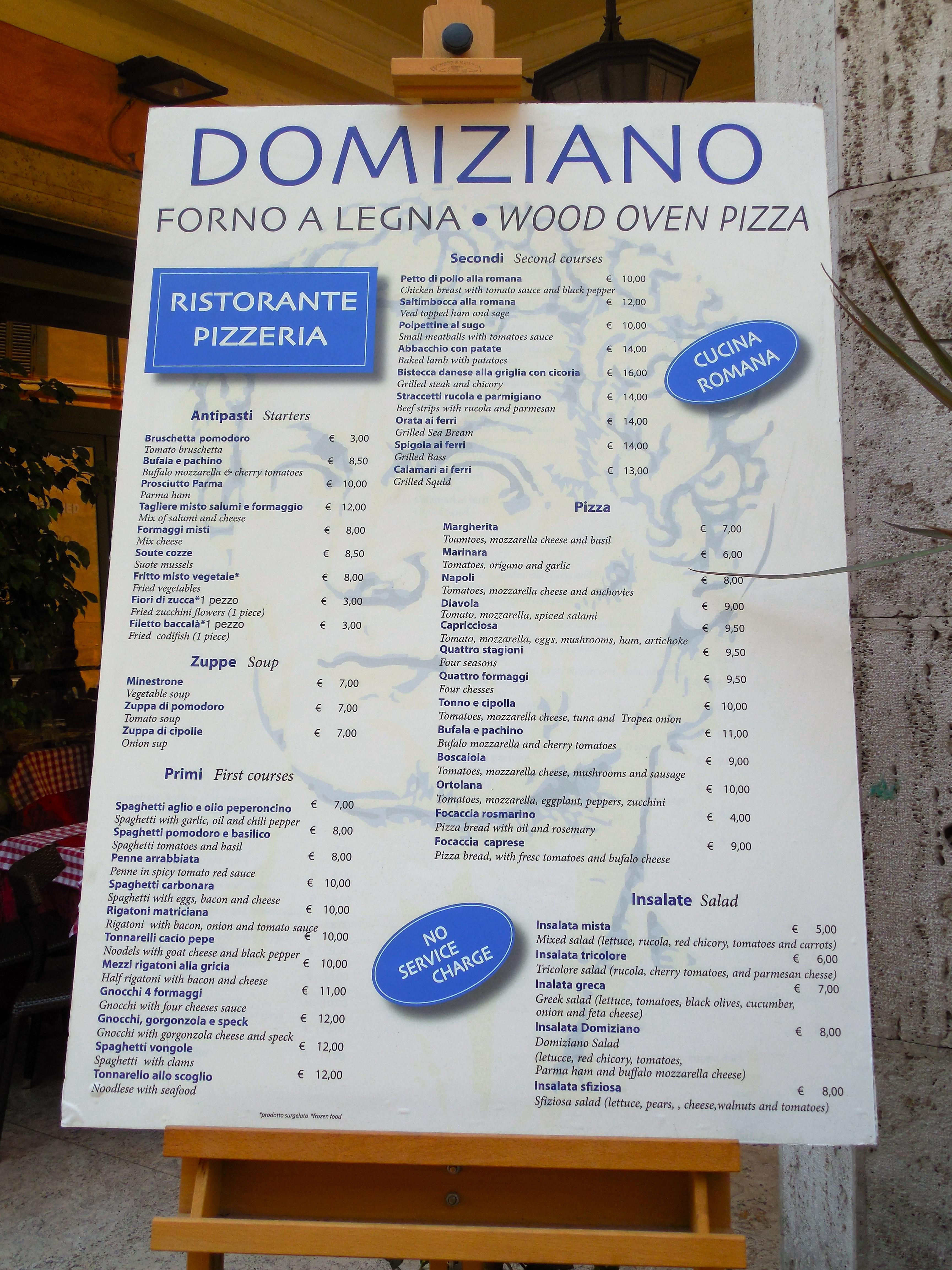 Kathryn occhipinti 39 s blog for Italian menu