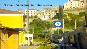 Taking the train in the Abruzzo region, Italy.