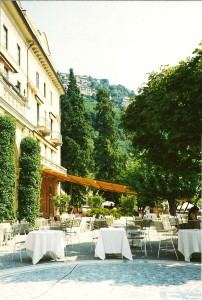 Italian Restaurant at the Hotel Villa d'Este, Lago Como, Italy