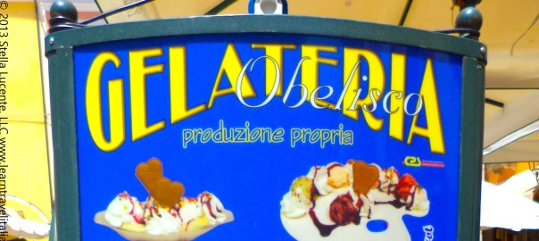 Italian tartufo and other gelato treats at an Italian gelateria