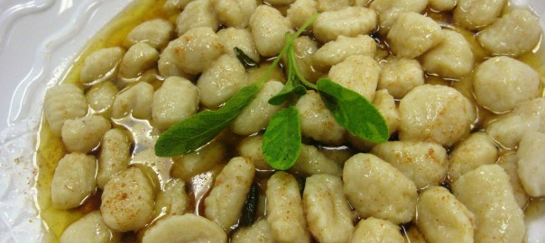 Gnocchi with Brown Butter and Sage sauce