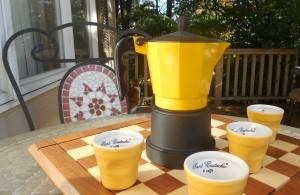 Espresso pot and espresso cups