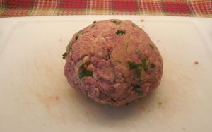 Italian meatball ready to fry