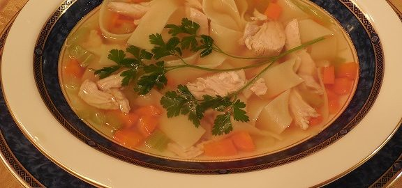 Turkey soup for Thanksgiving