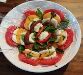 Tomato, basil and mozzarella caprese salad