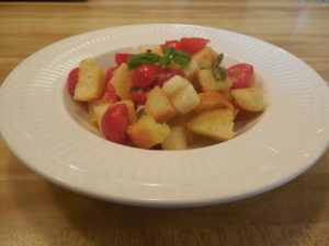 Tomato and bread Panzanella salad